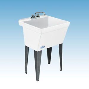 Ausgussbecken Waschtrog Waschbecken Spüle Premium extra groß, tief mit Beinen