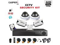 1080p Dome/Bullet IR Cameras 4CH CCTV DVR High Resolution complete Security kit and 1TB HDD