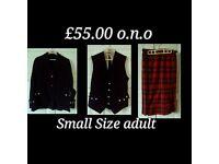 Kilt, waistcoat & jacket