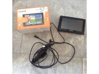Garmin Nuvi 57 LM Satnav with original box and all connections
