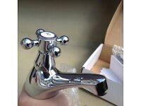 Bath taps (pair) chrome NEW