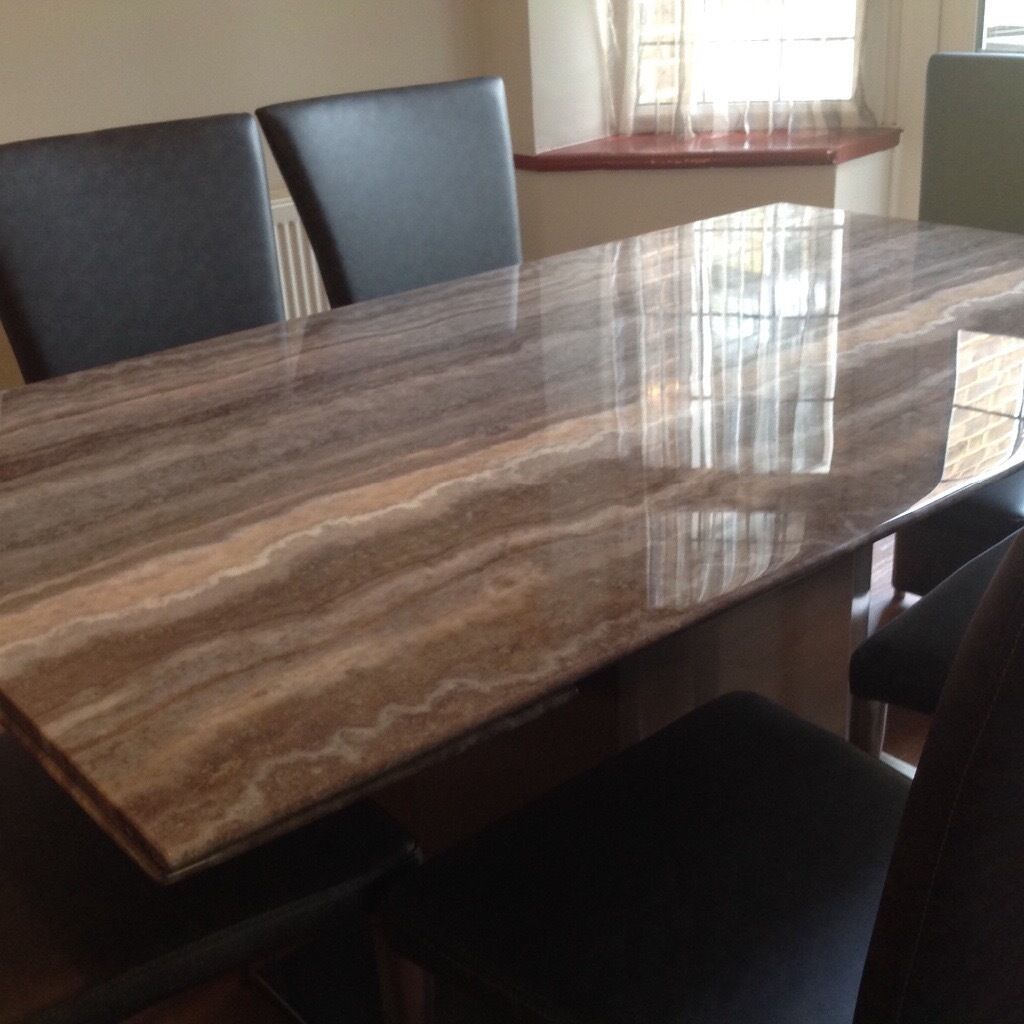 Marble Coffee Table Furniture Village: Beautiful Travertine Marble Extendable Dining Table With