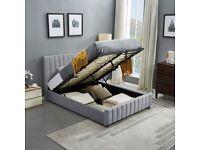 💛💛FULL ITALIAN DESIGN💛💛NEW DOUBLE PLUSH VELVET FABRIC HIGH QUALITY DOUBLE BED FRAME