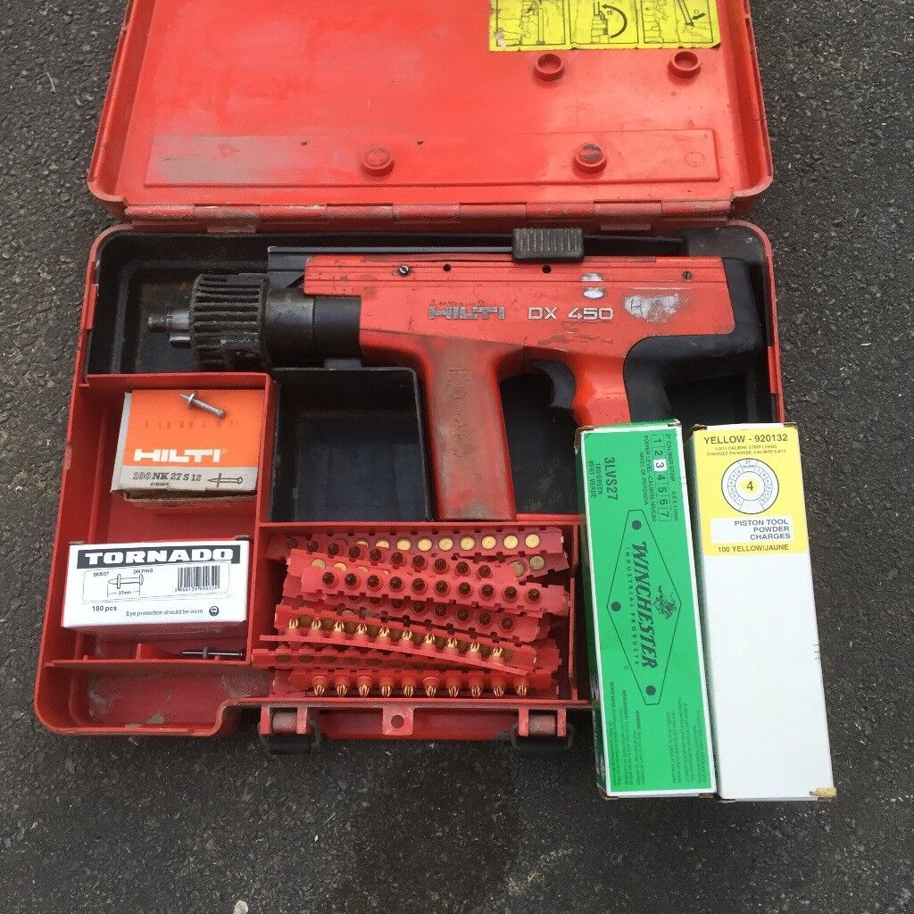 Hilti DX 450 Nail Gun (Repair) & Cartridges/Pins | in Otley, West ...