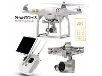 DJI Phantom 3 Drone PRO (with 2 extra batteries and a manfrotto D1 drone backpack)