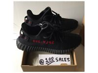 Adidas x Kanye West Yeezy Boost 350 V2 Black/Red UK10/US10.5/EU44 2/3 CP9652 +SIZE? RECEIPT 100sales