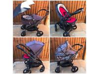 Egg Stroller Pram Buggy - Lots if extras - Great Condtion - Storm/Gun Metal Grey