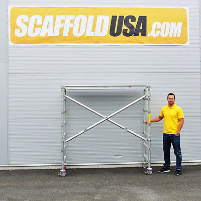 Scaffold Usa 7 Ft Folding Aluminum Scaffold Tower