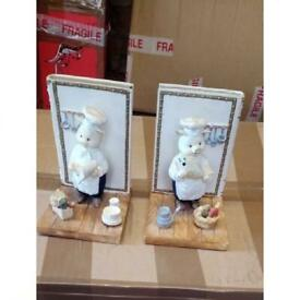 Chef pig kitchen bookends