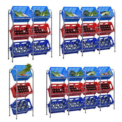 Mobel Wohnen Regale Aufbewahrung Getrankekistenregal Stahl Flaschenkastenregal Getrankestander Kisten Lagerregal