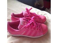 Pink adidas superstars size 3