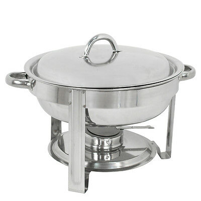 5-pack Round Chafing Dish Buffet Chafer Warmer Set Wlid 5 Quartstainless Steel