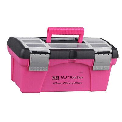 Pink Storage Box Toolbox Haushalts-Aufbewahrungsbox Multifunktionsbox