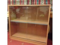 GLASS CABINET/BOOK SHELVES - GREAT CONDITION