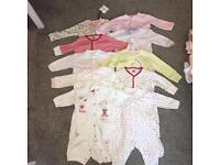 HUGE BUNDLE 0-3 BABY GIRL CLOTHES - 45 ITEMS FAB CONDITION