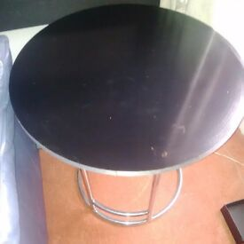 Black ash round table