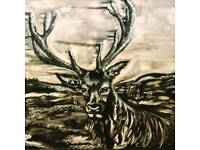 Painting stag