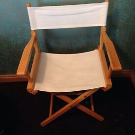 Director's Chair and Relaxer Chair - Cream Fabric