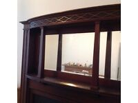 Fireplace and over mantle mirror fire surround with cast iron insert £350