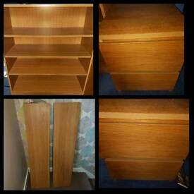Ikea furniture. Drawers, shelves and bookshelf