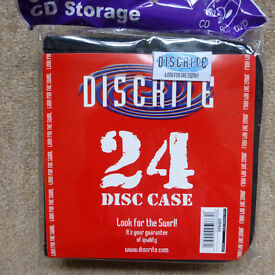 DISCRITE QUALITY CD/DVD CASE TAKES 24 DISCS, X45, CAR BOOTER STOCK