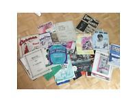 Piano books and sheet music bundle