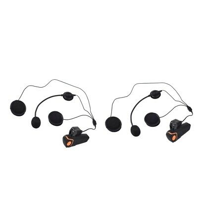 2 x Motorrad Helm Intercom Kommunikation Bluetooth Headset Kopfhörer