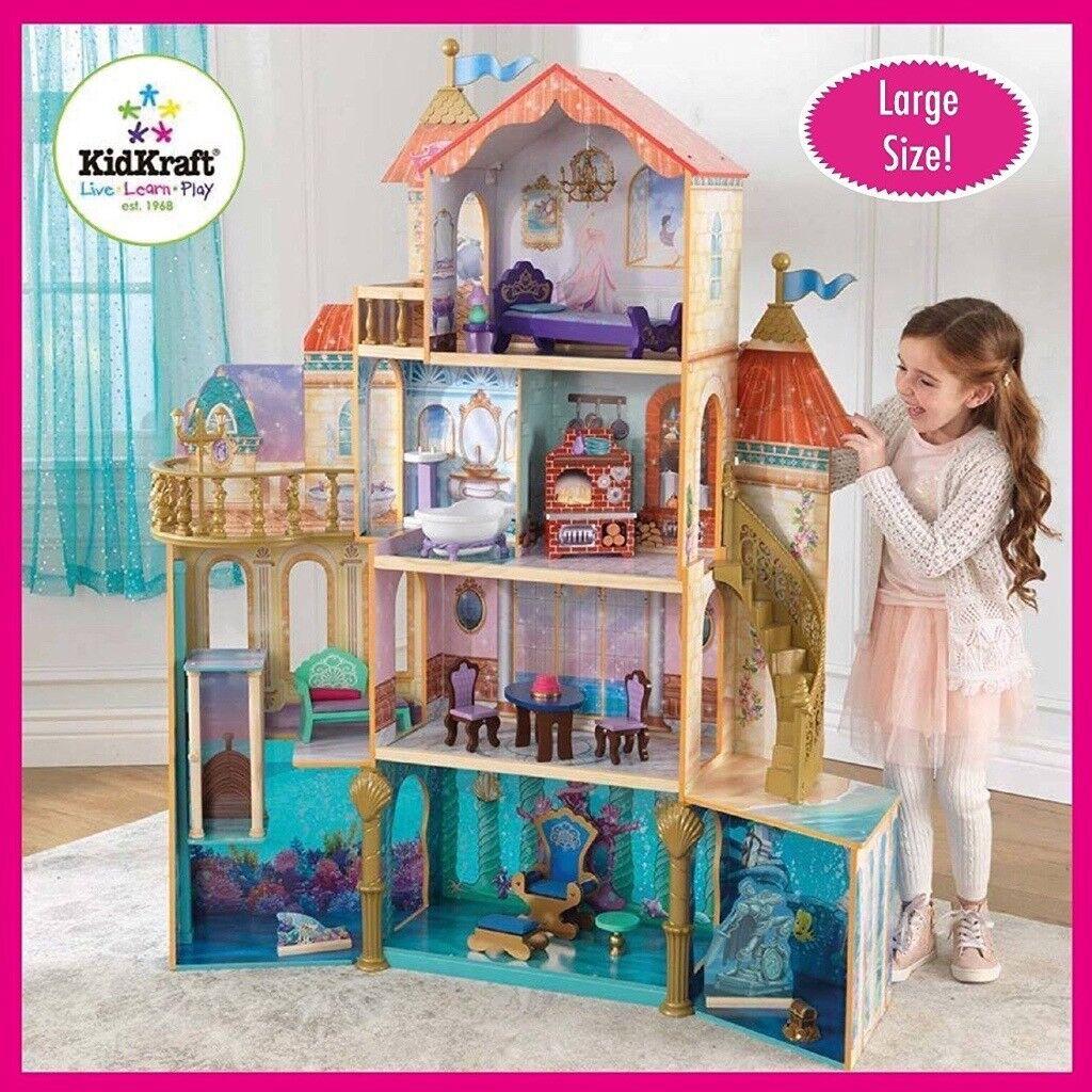 KidKraft Disney Princess Ariel Undersea Kingdom Wooden Dollhouse With Furniture BRAND NEW BOXED