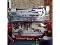 2 radio control boats