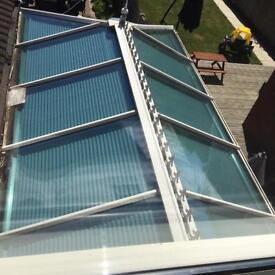 UPVC CONSERVATORY roof and side windows/plus blinds