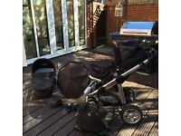 Limited edition Icandy apple pushchair with carrycot nappy bag parasol footmuff and cup holder