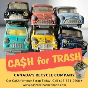 CA$H For Scrap Metal, Appliances, Batteries, Copper | CASH FOR TRASH CANADA -- BBB Accredited