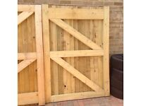Wooden gates - brand new