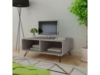 Coffee Table 90x55.5x38.5 cm Solid Paulownia Wood Grey-243009