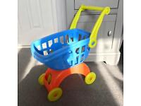 Kids shopping trolley toy