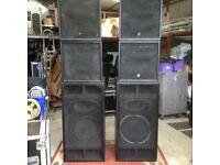 PA Speakers Bass Bins amps x-over