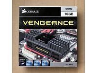 CORSAIR Vengeance 16GB 4x4GB RAM Memory DDR3 CMZ16GX3M4A1600C9 1600MHz BLACK