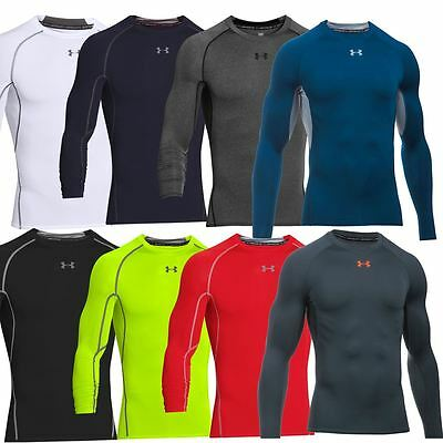 Under Armour 2018 Mens Heatgear Armour Longsleeve Compression Shirt Baselayer