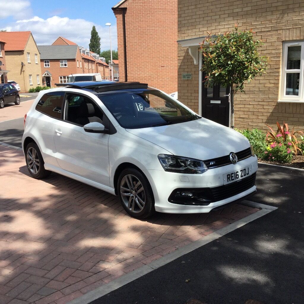volkswagen r line polo 1 4 tdi bluemotion 2016 pure white in warsop nottinghamshire gumtree. Black Bedroom Furniture Sets. Home Design Ideas