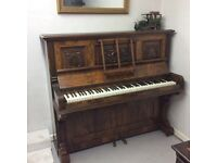 Beautiful walnut Merrington Bros.London Upright Piano - DELIVERY AVAILABLE