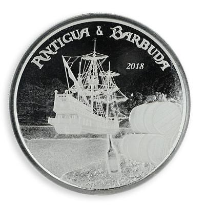 2018 1 oz Antigua & Barbuda Rum Runner .999 Silver Coin #A454