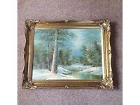 2 x landscape oil paintings for sale