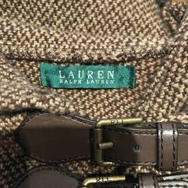 Ralph Lauren woman's cape brown tweed