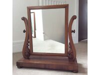 Victorian Mahogany Swing Mirror for Bedroom Dressing Table