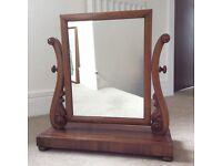 Victorian Mahogany Swing Mirror for Bedroom Dressing Table