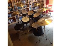 Mapex limited edition 6 piece drum kit with full set of zildjian Avedis cymbals. Call 07986127117