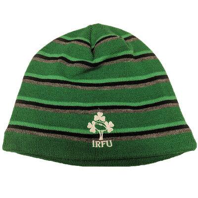 Canterbury Ireland Rugby Stripe Beanie - Bosphorus Green IRFU (2018-2019) Rugby Stripe Beanie