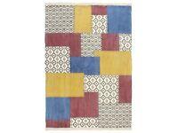 Handwoven Kilim Rug Cotton 120x180 cm Printed Multicolour-287556