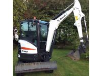 Digger for hire with driver.