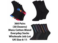 360 Pairs Mens Boys Cotton Everyday Formal Dress Suit Socks Wholesale Job Lot Clearance Stock New